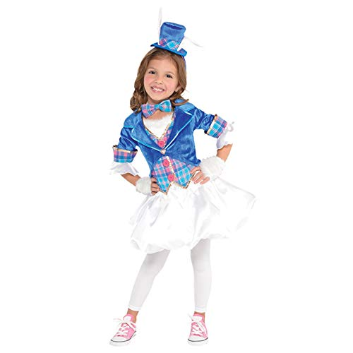 Wunderliche Märzhasin Alice im Wunderland Kaninchen Kostüm Kinder Mädchen Amscan