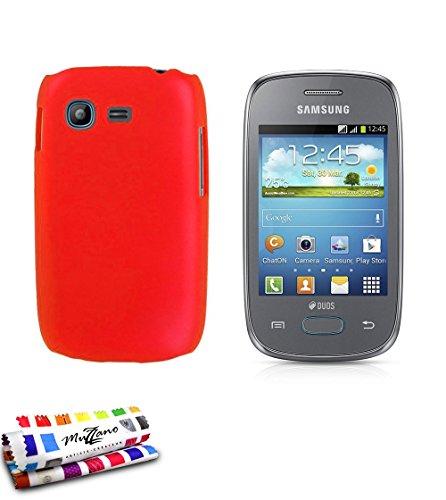 MUZZANO Original Perle Rigida per Samsung Galaxy Pocket Neo, Colore: Rosso