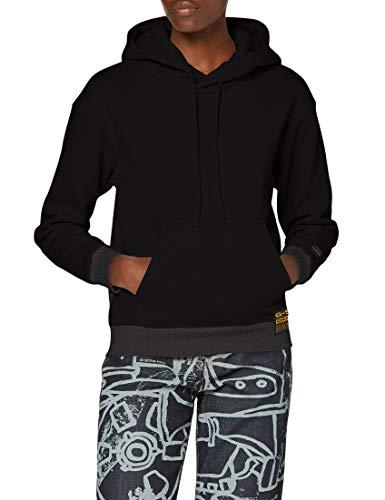 G-STAR RAW Damen Hooded Sweatshirt Premium Core Hooded, Dk Black C235-6484, M