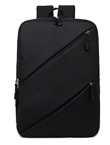 beibao shop Backpack Sacs à Dos pour Ordinateur Portable Tissu Oxford Commerce Casual Épaules Square Extérieur Multi-Fonctionnel Sac à Dos d'ordinateur, Black
