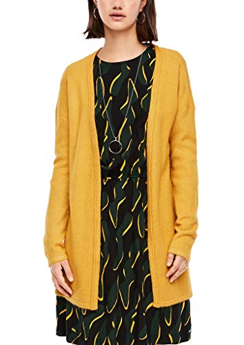 Q/S designed by - s.Oliver Damen Strickjacke aus Softer Qualität Yellow Melange XS