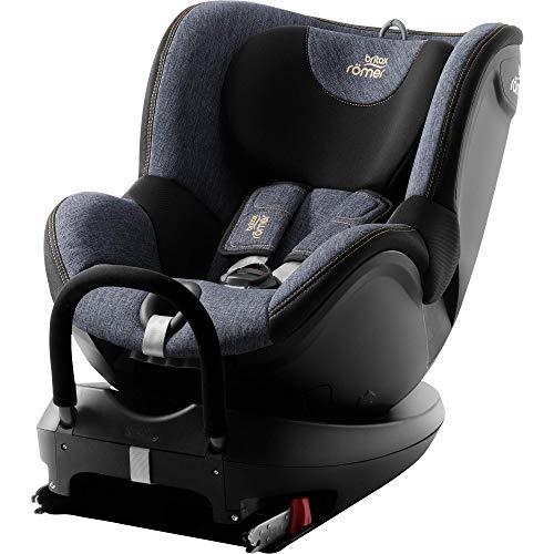 BRITAX RÖMER silla de coche DUALFIX2 R, Giratoria a 360 ° y con fijación ISOFIX, niño de 0 a 18 kg (Grupo 0+/1) desde el nacimiento hasta los 4 años, Blue Marble