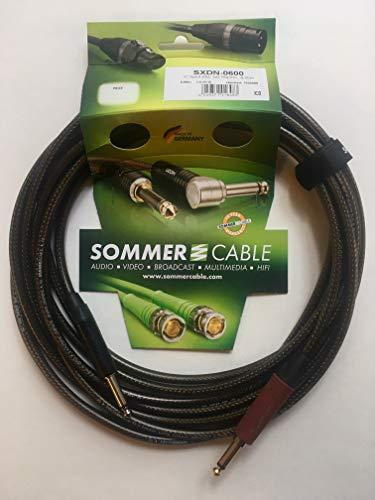 Sommer Cable – Cable para guitarra en espiral XXL equipado con Jack Mono NP2X-BAG Neutrik/Jack Mono NP2X-AU-SILENT Neutrik (6 m), fabricado en Alemania