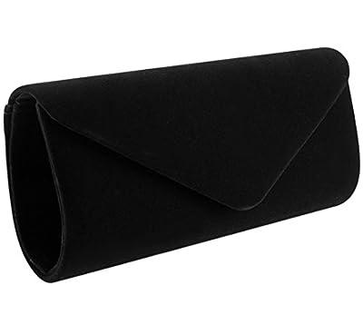 Jubileens Wedding Evening Party Velvet Clutch Bag Retro Envelope Cross Body Handbag