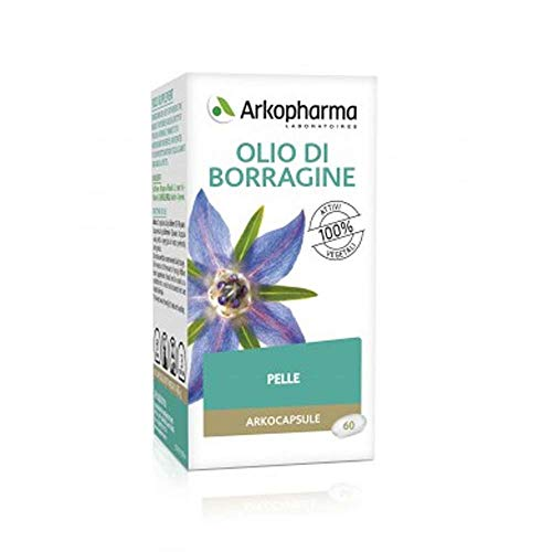 Arkopharma Olio Borragine Bio Integratore Per La Pelle Arkocapsule, 60 Capsule