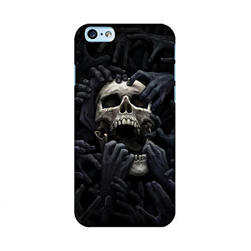 EREMITI JEWELS Cover Personalizzata con Immagine Hands ON Skull Mani sul Teschio per Smartphone iPhone 5 5C 6 6S 6 Plus 6S Plus 7 7PLUS 8 8PLUS X XR XS XSMAX (iPhone 6 / 6S)