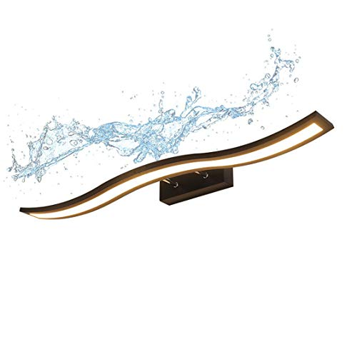 HMAKGG Luz de Espejo de Baño LED, 180° Hilar Luz Calida 3000K Luz de Maquillaje Aplique de Baño Espejo Ajuste Telescópico Impermeable Apliques para Tocador Probador Cuarto de Baño,10w/40cm