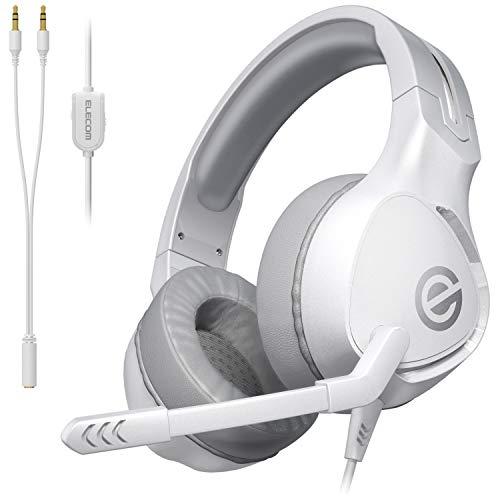 エレコム ゲーミングヘッドセット ヘッドホン 軽量×やわらかイヤーパッド 長時間のプレイも快適 ホワイト HS-G01WH