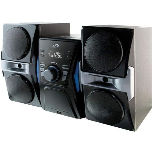 iLive Mini Stereo Sound System with Bluetooth v2.0 Wireless Technology & CD Player: CD, CD-R/RW, Features Digital FM Radio (PLL) & 10 Station Presets, USB Port for Mobile Phone Charging and Fully Function Remote Included