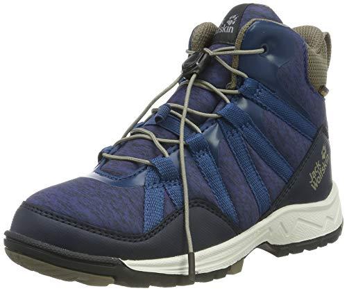 Jack Wolfskin Unisex-Kinder Thunderbolt Texapore MID K Wasserdicht Trekking- & Wanderstiefel, Blau (Blue/Phantom 1173), 29 EU