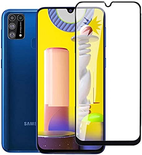 Cassby 5D Tempered Glass for Samsung Galaxy M21 Full Coverage Premium Anti Explosion Premium Tempered Glass 9H Hardness 5D Ultra Clear Anti Scratch Free Anti Finger Print Black