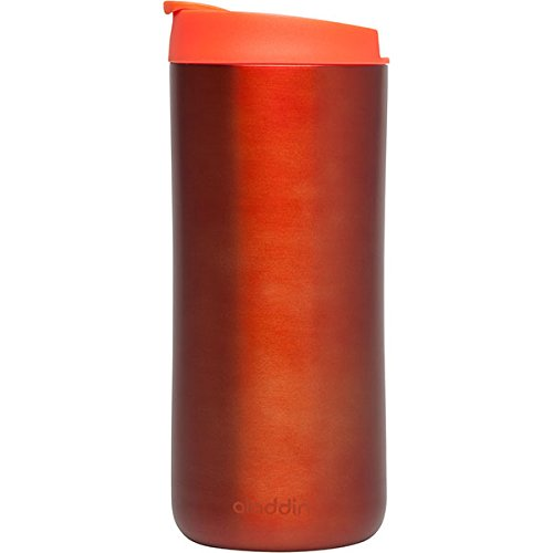 Aladdin 33462 Edelstahl-Thermobecher / Isolierbecher, vakuum isoliert, 0,35 L, tomato