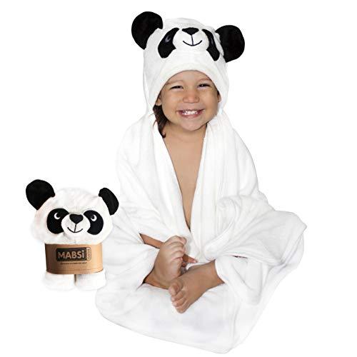 Mabsi Bebé™ Toalla de Baño con Capucha para Bebe, Niña y Niño. Hecha con Fibras Orgánicas de Bambú/Diseño Panda