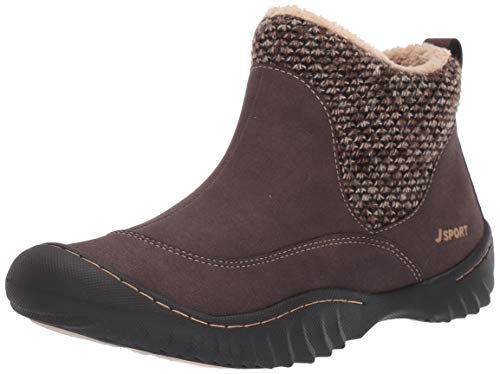 JSport by Jambu Women's Marcy Ankle Boot, Brown, 7.5 M US