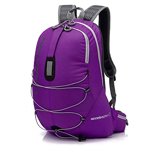 KNJF Waterproof Cycling Backpack Lightweight Waterproof Cycling Backpack Outdoor Backpack for Running Cycling Hiking Camping 20L (Color : Purple, Size : 43 * 24cm)