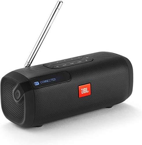 JBL Tuner Radiorekorder - Tragbarer Bluetooth Lautsprecher mit DAB+ und UKW Radio - MP3 fähige Musikbox - Bis zu 8 Stunden kabellos Digitalradio genießen Schwarz