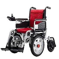 電動車椅子折りたたみ式電動車椅子、全地形対応ヘビーデューティーパワフルデュアルモーター折りたたみ式電動(屋外ポータブル)