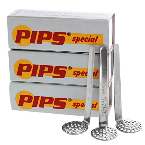 9X PIPS Special Einhängesiebe Edelstahl (3x3er Pack) Stahl Hängesiebe für Tabakpfeifen und Wasserpfeifen (15mm)