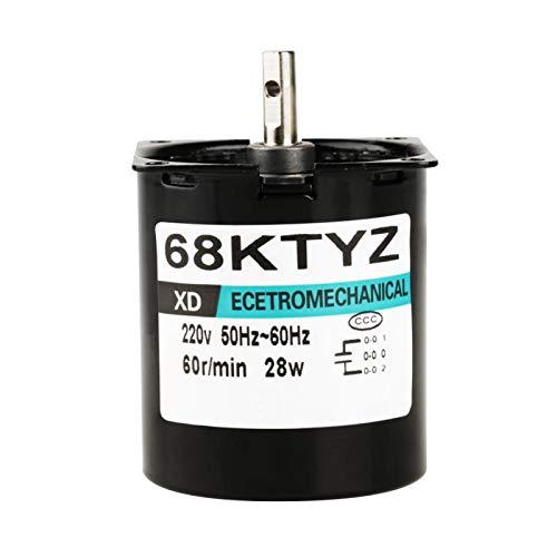 EVTSCAN últimos motores de CA Motor de engranaje síncrono de imán permanente CW/CCW 68KTYZ 220V para generador de bricolaje(60 RPM)
