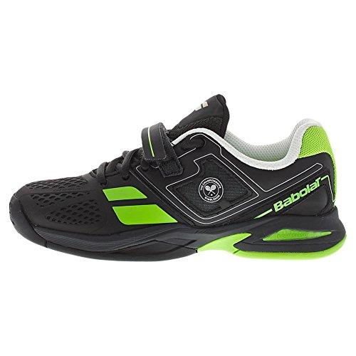 Babolat Propulse BPM All Court Wimbledon Junior Tennis Schuh, Mehrfarbig - schwarz/grün - Größe: 39 1/3 EU