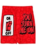 Briefly Stated You Turn Me On Men's Boxer Shorts (Large, Red)