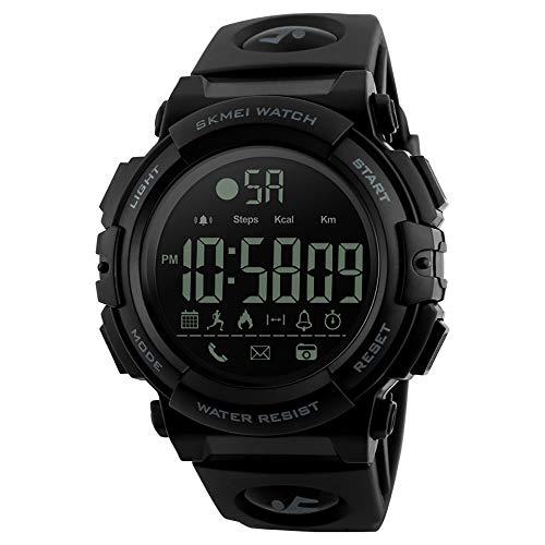 Fesjoy Smart Watch 1303 Analógico Digital Podómetro Calor Fitness Monitor Reloj Fashion Casual Deportivo Reloj de Pulsera 5ATM Waterproof Backlight BT Multifuncional Hombre Relojes para Android y iOS