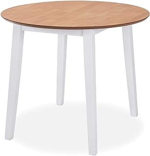 vidaXL Table de Salle à Manger Ronde à Abattant Table à Dîner Table de Repas Table de Cuisine Meuble de Cuisine Maison Int...