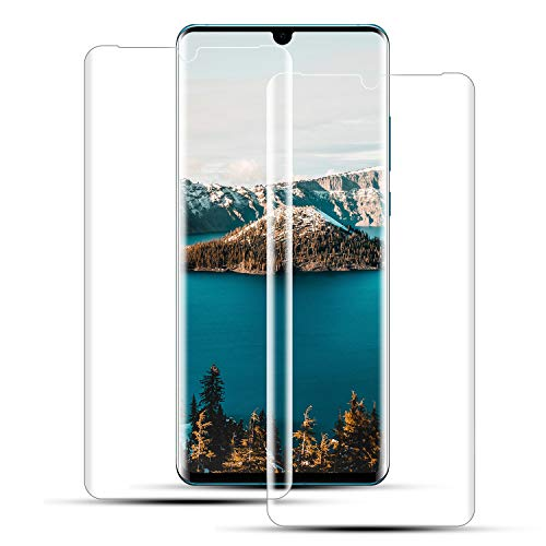 Mriaiz Verre Trempé pour Huawei P30 Pro, (2 Pièces) [Couverture Complète] [Dureté 9H] [Ultra Claire] [Anti Rayures] [sans Bulles] Film de Protection d'écra pour Huawei P30 Pro