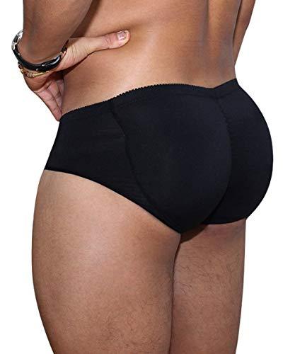AIEOE Po-Pushup-slip voor heren, gevoerde slip, ondergoed, korte gestoffeerde broek voor heren