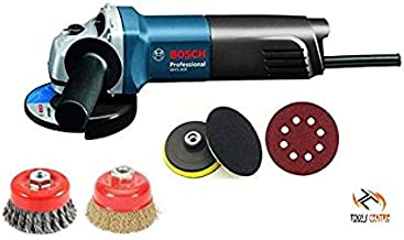 Tools Centre Bosch Angle Grinder Machine 670W With Free Polishing Pads & Rust Removal Cup Brush.