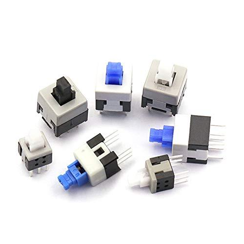 Kfdzsw Interruptores de botón 10 unids/Lote 5.8 * 5.8 7 * 7 8 * 8 8.5 * 8.5mm Self Blocking Push Tactile Power Micro Switch Kit de interruptores de botón de 6 Pines