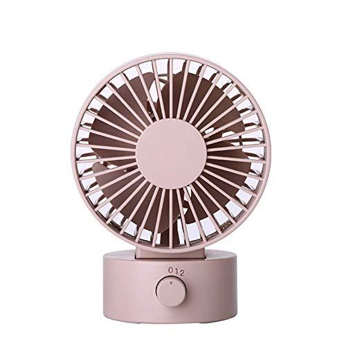 Ruoyu-EU - Ventilador de escritorio con USB (2 velocidades, velocidad variable, se puede girar para llevar un pequeño ventilador (rosa)