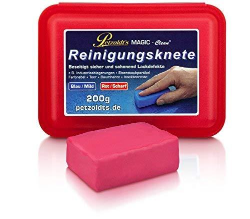 Petzoldt\'s 200 Gramm rote Profi-Reinigungsknete Magic-Clean - die scharfe Lackknete zur Lackpflege und Felgenreinigung