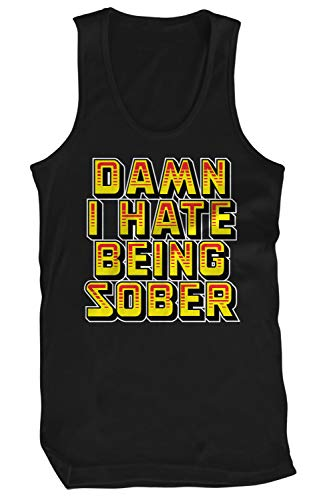 Amdesco Men's Damn I Hate Being Sober Tank Top, Black 3XL