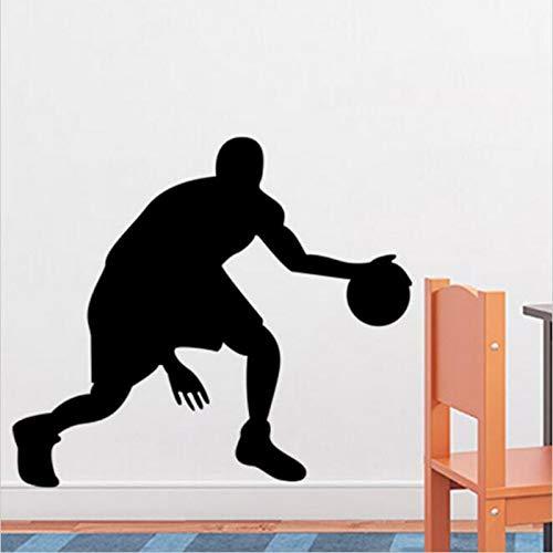 yaonuli Basketbalspeler muur fit jongen slaapkamer muurschildering lijm muurschildering slaapkamer decoratie