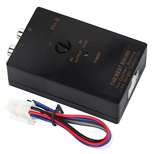 Convertidor de nivel de altavoz Auto Auto Salida RCA Convertidor de nivel de línea de altavoz estéreo con función de retardo
