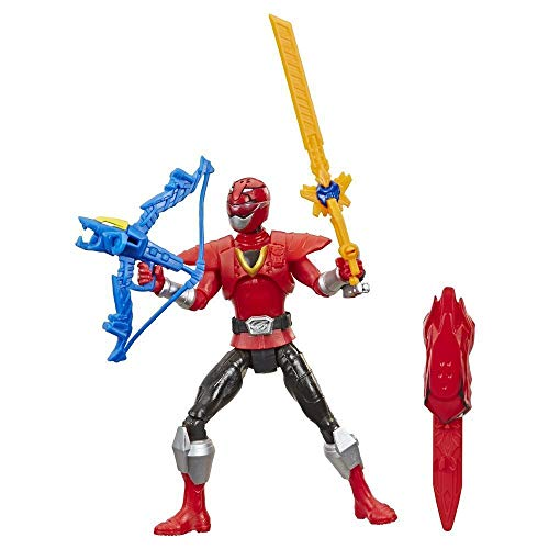 Power Rangers Beast Morphers Beast-X Red Ranger 15 cm Actionfigur Spielzeug inspiriert vom Power Rangers TV Programm