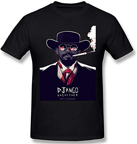 Django Unchained-1 Men's Fashion Round Neck Short Sleeve T-ShirtBlack