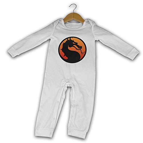 Mortal-Kombat Logo Verano de Manga Larga Niñas Niños Bebé Mameluco De Algodón Recién Nacido Body Traje Bebé Pijama Niño Mono