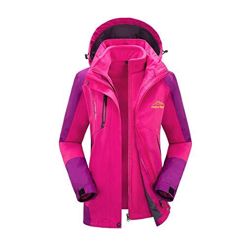 Zhuhuimin Outdoor bergbeklimmen pak vrouwelijke waterdicht en winddicht winter vissen Jersey verdikking ski-paar drie in een jas 3XL 1