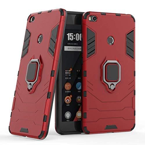 LuluMain Kompatibel mit Xiaomi Mi Max 2 Hülle, Ring Ständer Magnetischer Handyhalter Auto Hülleme Schutzhülle Hülle für Xiaomi Mi Max2 (Rot)