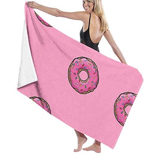Toalla de playa grande de donut, ultra suave, muy absorbente, de secado rápido, toalla de baño y ducha, 80 x 130 cm