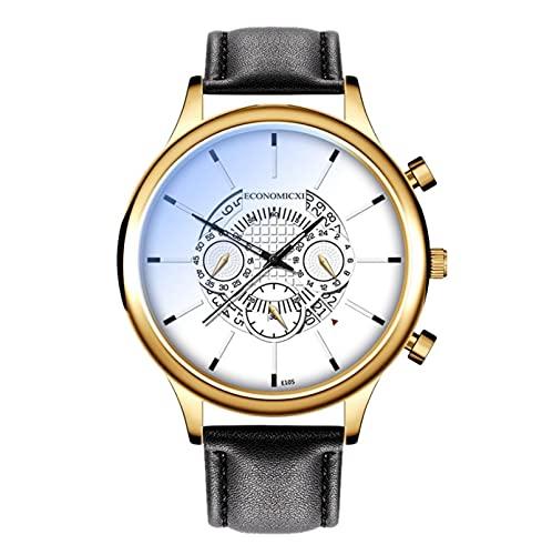 Herren Quarz Chronograph Uhren Herren-Armbanduhr Herrenuhr Business Casual Armbanduhr für Herren Männer Armbanduhr Herren Skelettuhr Mechanische Uhren Automatik-C