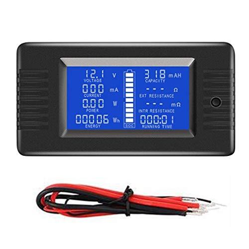 10A D/étecteur de Testeur de Batterie Monophas/é Panneau Num/érique DC Amp/ère Volt Power Meter Capacit/é R/ésistance /Électricit/é M/ètre