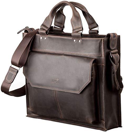 Shvigel Leather Laptop Bag Men's - Leather Briefcase - Travel Bag - Computer Messenger Bag - for Men and Women - Best Business Satchel School Bag