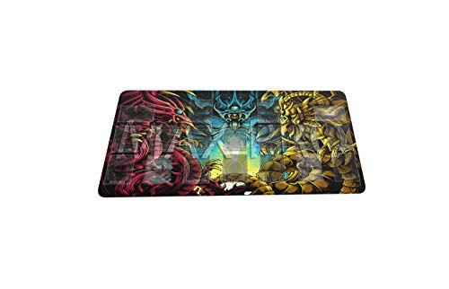 MPCGM Yugioh Gods Master Rule 4 Link Zones Playmat - Card Zone Gaming Playmat Board Game Mat TCG OCG Mat