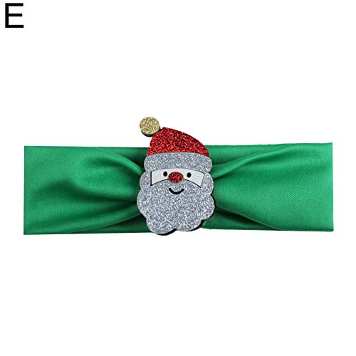 Kerstmis benodigdheden Ornament Vakantie Craft Cadeau, Kerstmis Glittery Santa Baby Zachte Elastische Brede Haarband Hoofdband Hoofddeksels - A