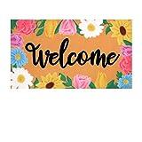 9. Welcome Decor Doormat Decorations, Welcome Doormat Indoor Outdoor Floor Mat Hello Sunmmer Doormats, Spring Floor Mat Bathroom Doormat Rugs for Indoor, Outdoor,Front Door 17.17x 29.52 inch (SPEING)