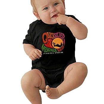 Quicksilver Messenger Service Unisex Baby Jersey Bodysuit Cute Sleeve Onesies Child Bodysuits T-Shirt Black