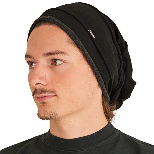 Casualbox Charm Herren Damen Slouch Groß Groß Beanie Baggy Hut Strick Japanisch Mode Schwarz